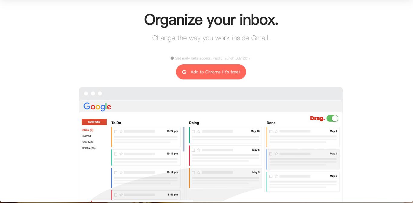 Drag 簡單把 Gmail 變成可以拖拉排序的整齊任務清單