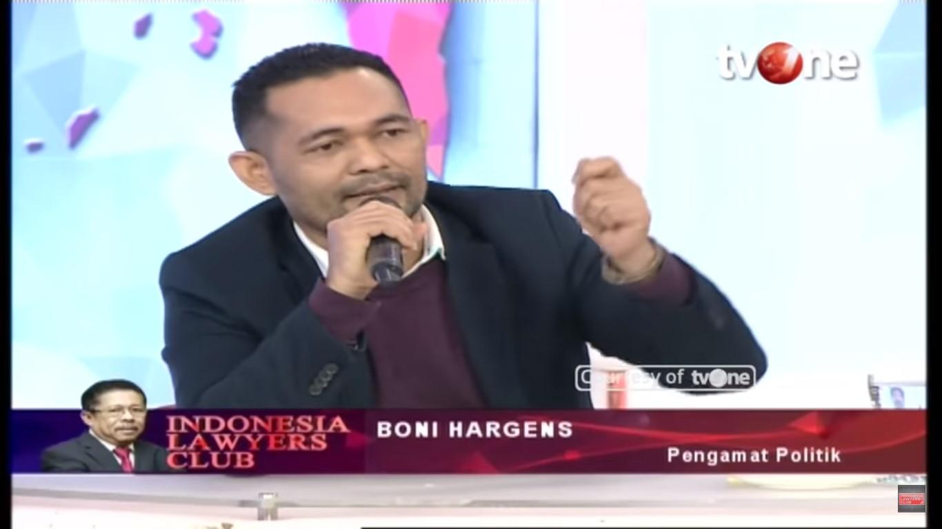 Boni Hargens di ILC, Puji Jokowi, Sindir Prabowo