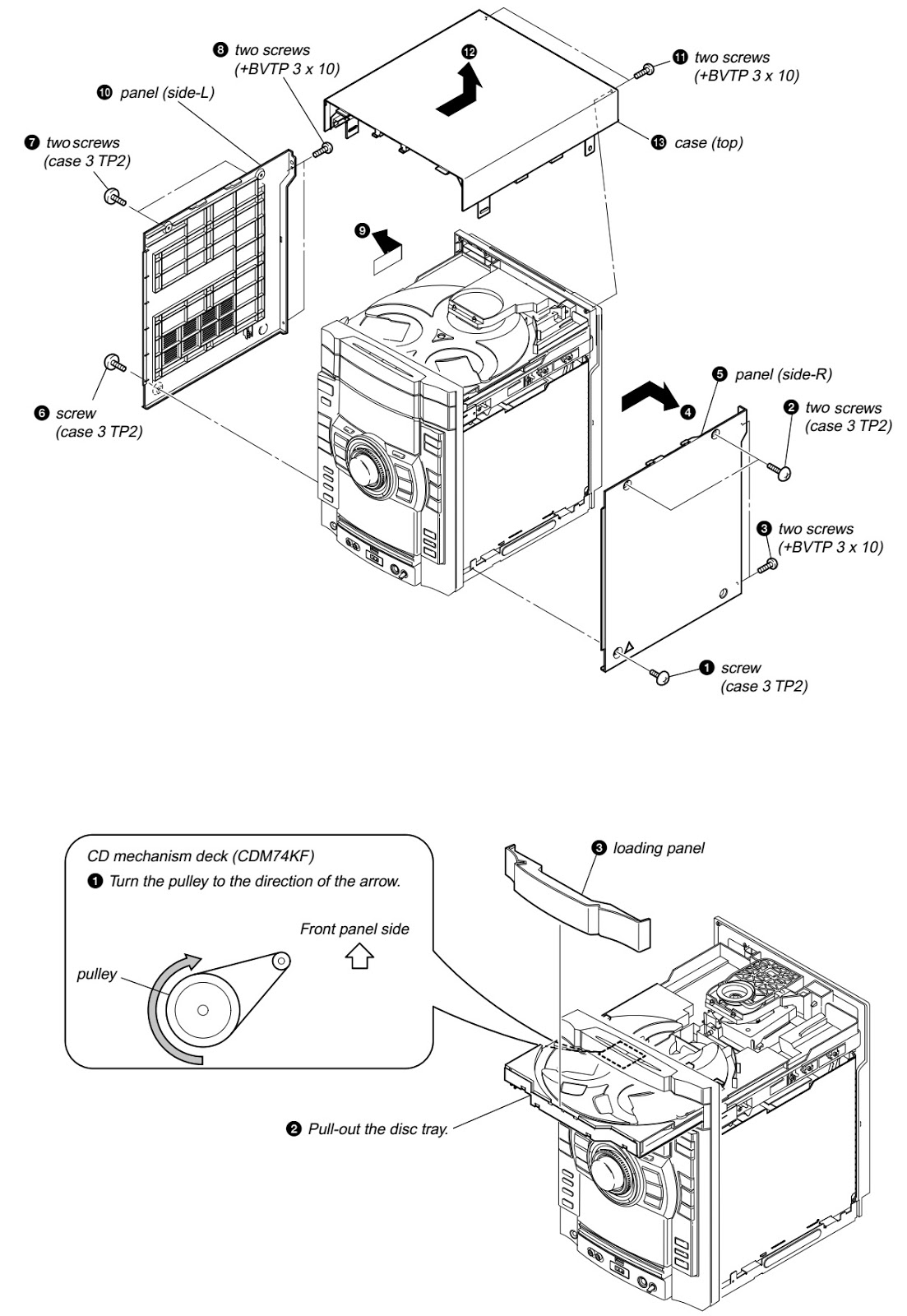 How To Disassemble Hcd Gtx777 Cd Deck Receiver
