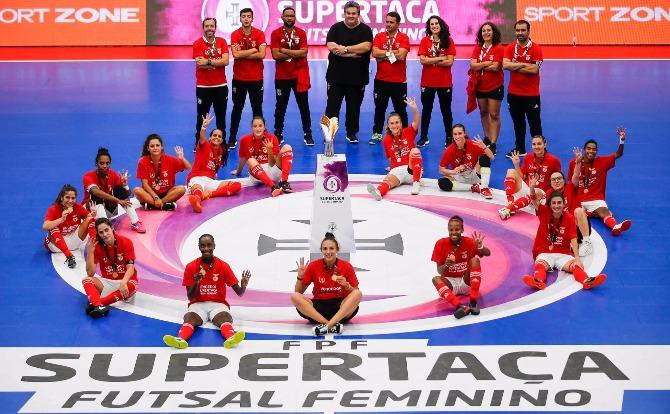 Benfica vencedor da Supertaça de Futsal Feminino