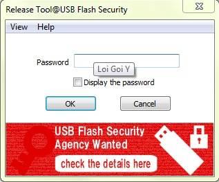 đặt password USB Flash Security