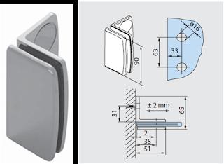 Tecnolog a y dise o herrajes y templados ngulos inova for Muro cristal