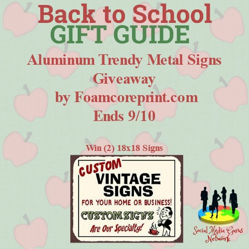 Aluminum Trendy Metal Signs