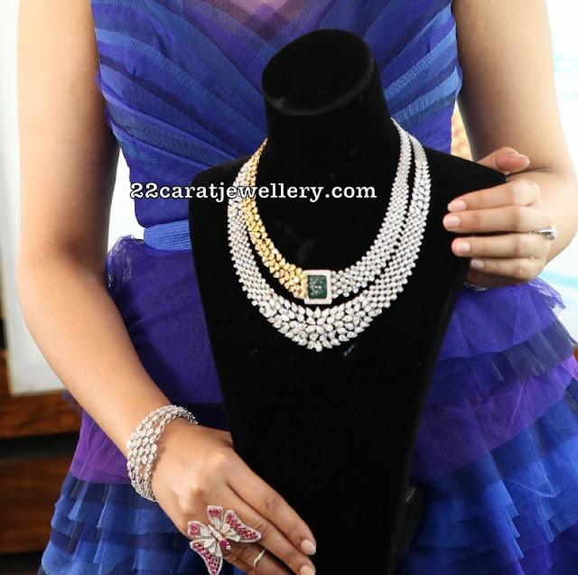 Purva Rana Showcasing Diamond Choker