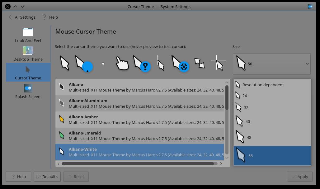 Install Alkano Serie 2 7 5 (Mouse Cursor Theme) on Ubuntu / Linux