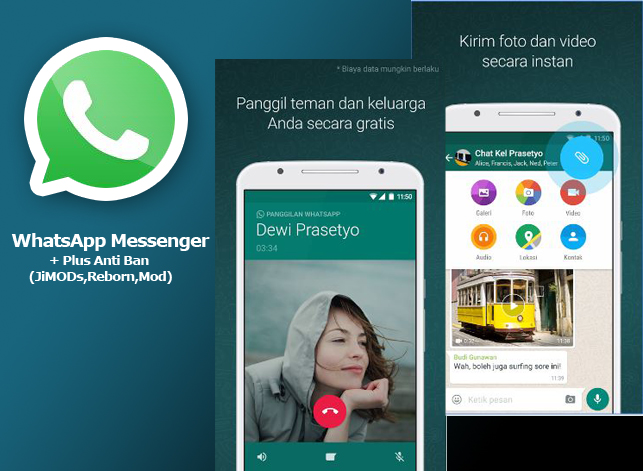 Download WhatsApp + Plus Anti Ban (JiMODs,Reborn,Mod) Terbaru 2016