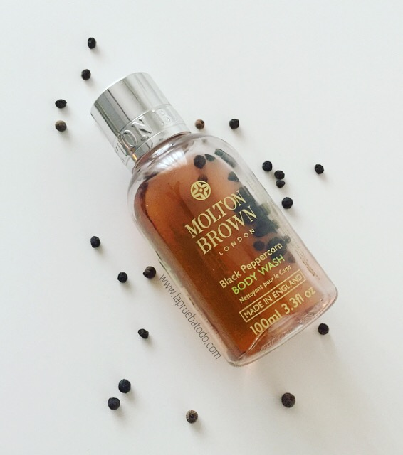 Black Peppercorn body wash de Molton Brown