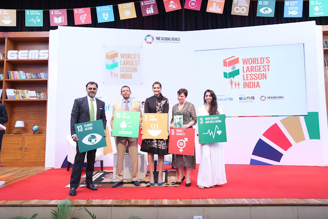 SONAM KAPOOR JOINS GEMS EDUCATION, UNICEF, RELIANCE GROUP AND THE GLOBAL GOALS CAMPAIGN TO LAUNCH THE WORLD'S LARGEST LESSON INDIA PROGRAMME ON NATIONAL TEACHERS DAY