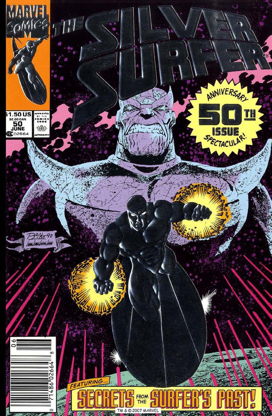 Read online Silver Surfer (1987) comic -  Issue #50 - 1