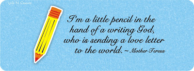 pencil in the hand of a writing God by Mother Teresa