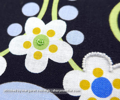 Padding with beads before covering with more beads. (Wild Child Japanese Bead Embroidery by Mary Alice Sinton)
