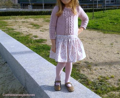 Conhiloslanasybotones: vestido rosa combinado