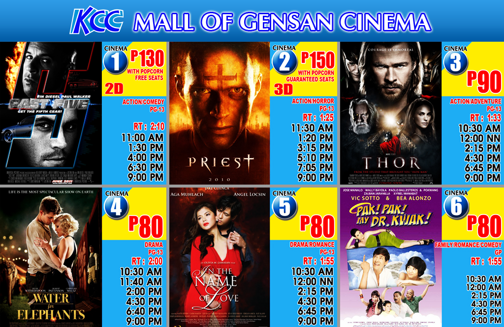 Now Showing at KCC Cinemas, May 18- 24, 2011 | South