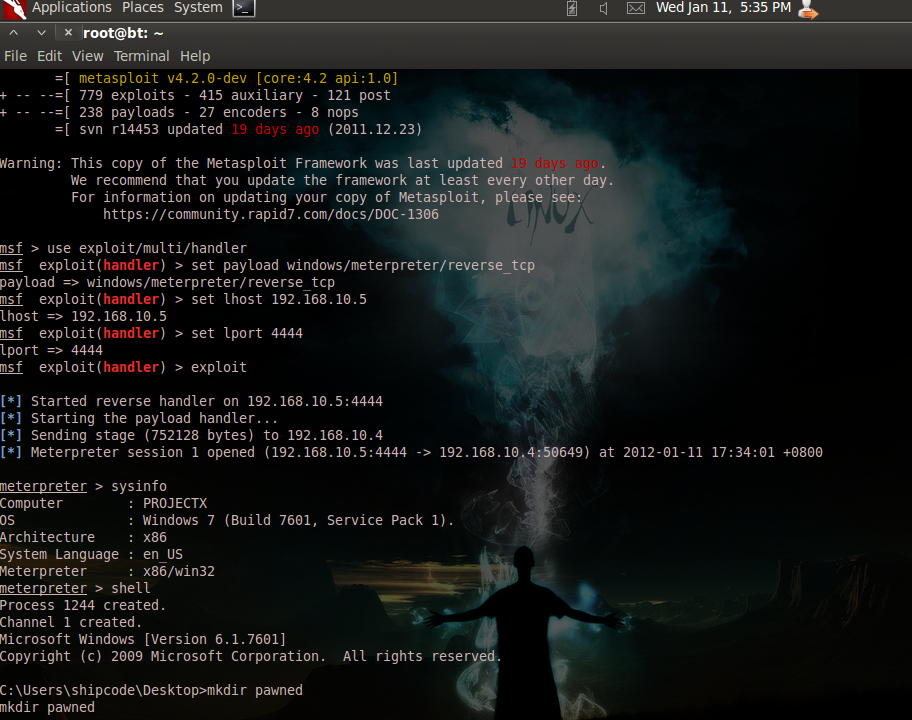 HACK ANY WINDOWS 7 WITH METASPLOIT ~ Kali Linux