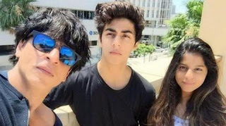 Shahrukh Khan and with his son and daughter