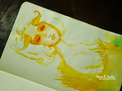 Diana B. Santos Sketch 2014 A fantasy innocent girl with horn