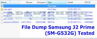 File Dump Samsung J2 Prime (SM-G532G) Tested