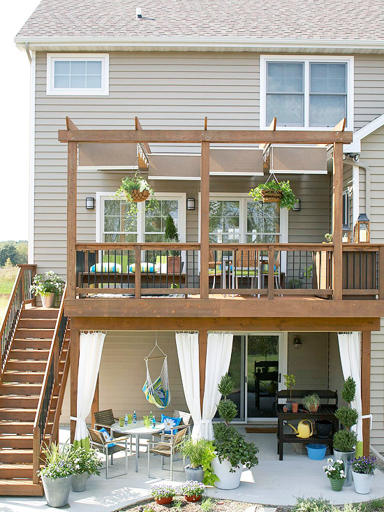 Second Story Deck Ideas for Your Backyard - Remodelando la ... on 2 Level Backyard Ideas id=38560
