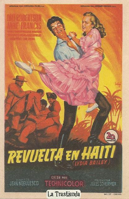Programa de Cine - Revuelta en Haití - Anne Francis - Dale Robertson