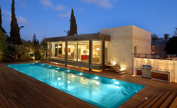 Sleek Pool Deck