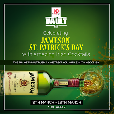 Umang Tewari of Big Fish Ventures, St. Patrick's day with amazing Irish cocktails, The Vault Cafe