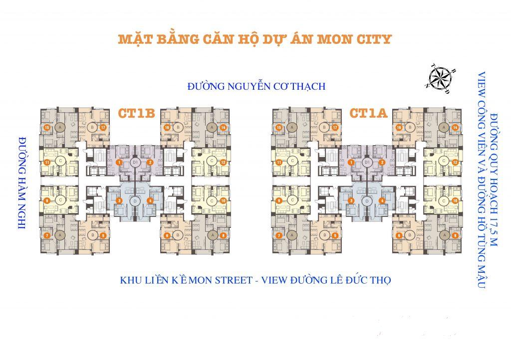 Mặt bằng căn hộ HD Mon City