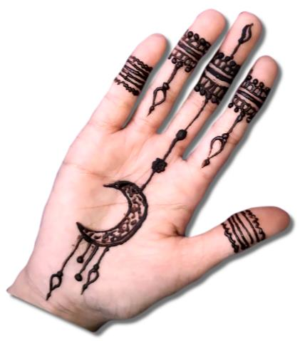 Moon Mehndi for Kids