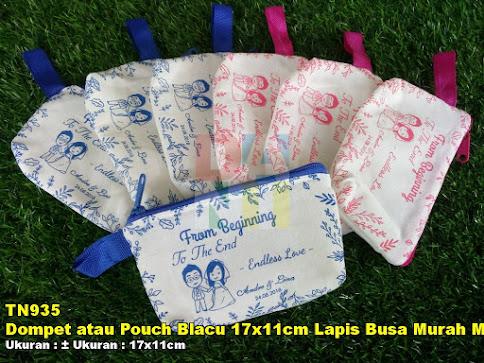 Dompet atau Pouch Blacu 17x11cm Lapis Busa Murah Meriah