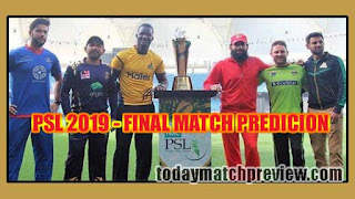 Peshawar vs Quetta Final PSL 2019 Today Match Prediction Who will win Quetta vs Peshawar