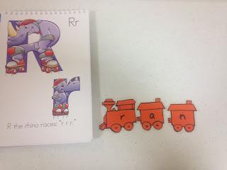 Preschool reading train