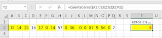 VBA: Contar Ceros en Rangos Discontinuos de Excel
