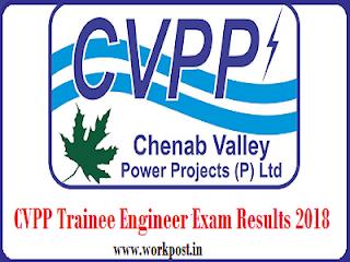 CVPP Trainee Engineer Results 2018