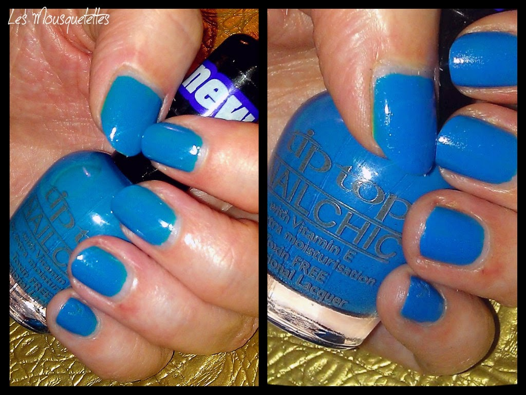 Teinte Cyan Can-Can Vernis Tip Top Nail - Les Mousquetettes©