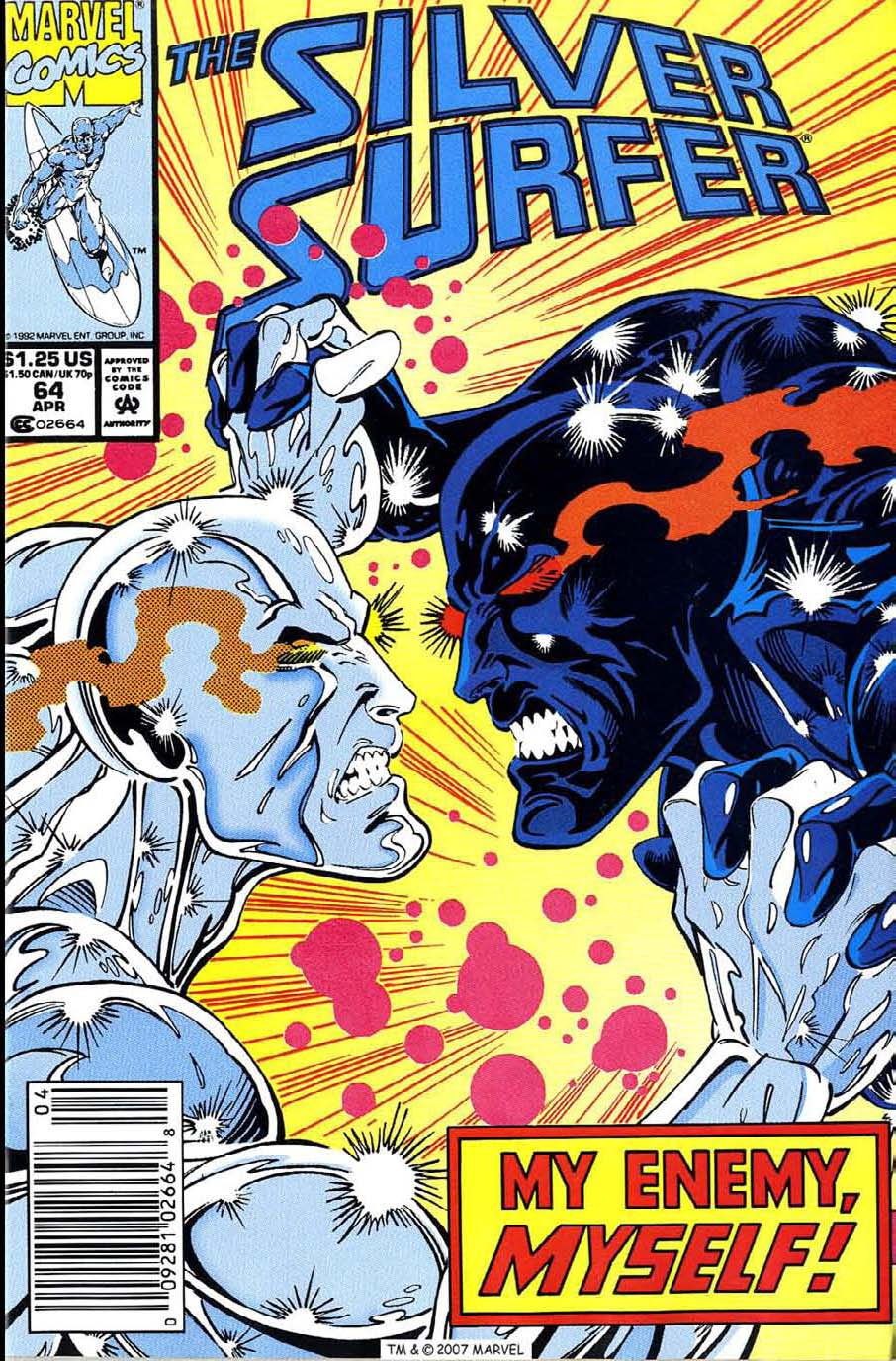 Read online Silver Surfer (1987) comic -  Issue #64 - 1