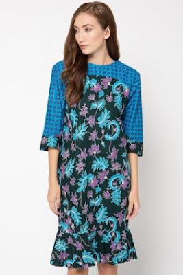 Mini dress remaja wanita motif batik