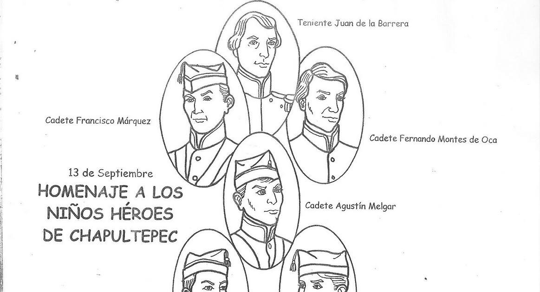 Dibujos Para Colorear De Ninos Heroes