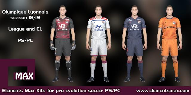 Olympique Lyonnais PES kits 18/19