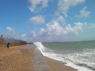 sea defences by fort cumberland eastney