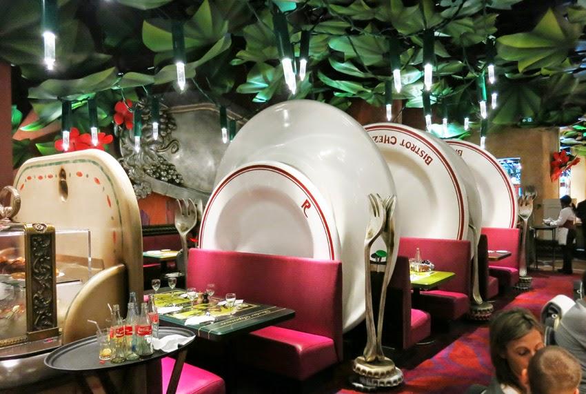 Restaurante Bistrot Che Rémy_mesas separadas por platos