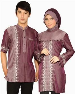 Model baju muslim couple elegan