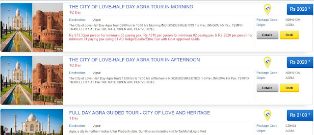 List of Agra Tour Packages