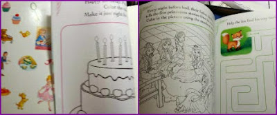 princess grace stick and activity book sample page
