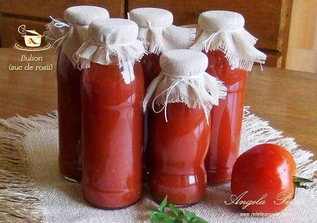 Reteta bulion fara conservant, suc de rosii