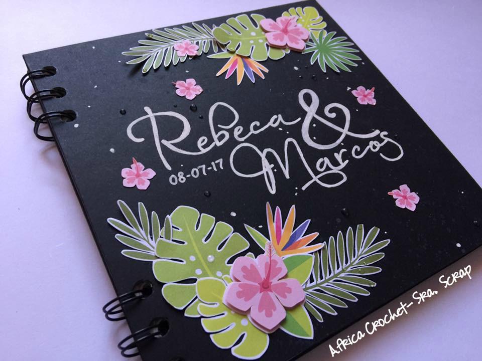 El Blog De La Sra Scrap Libro De Firmas Para Una Boda Tropical