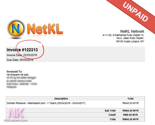 renew domain netkl