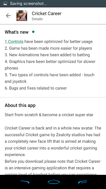 Cricket Career 2019 3.1 Features