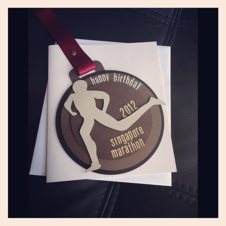 Fluffyheartz Birthday Card For A Marathon Runner