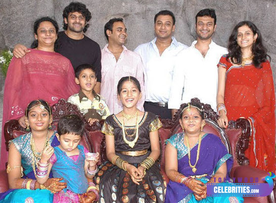 Prabhas with his family