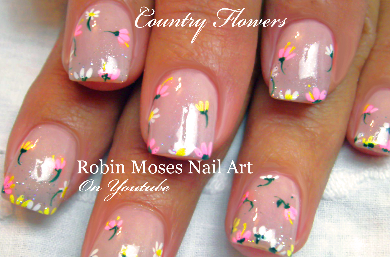 Robin moses nail art diy easy spring 2016 wild flower nail art flower nails easy floral nail art flowers nail art for beginners advanced nail techs prinsesfo Images
