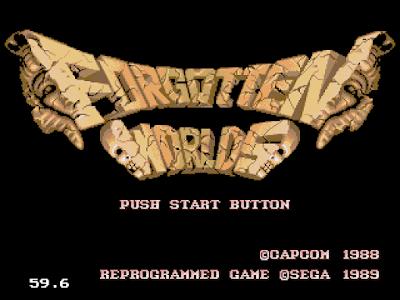 【MD】世界末日(Forgotten.Worlds)原版+Hack無敵版,卡普空動作射擊遊戲!